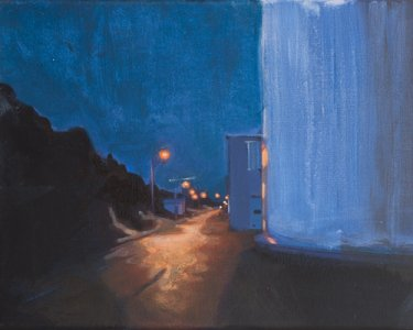 Night Lights V, 30x40cm, Acryl auf Leinwand, 2012
