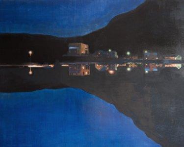 Blue Hour, 80x100cm, Acryl auf Leinwand, 2012