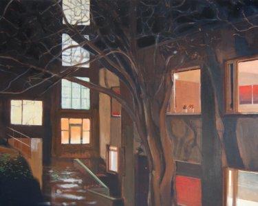 Backyard, 80x100cm, Acryl auf Leinwand, 2012