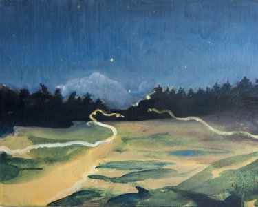 Night walking, 30x40cm, Öl auf Leinwand, 2012