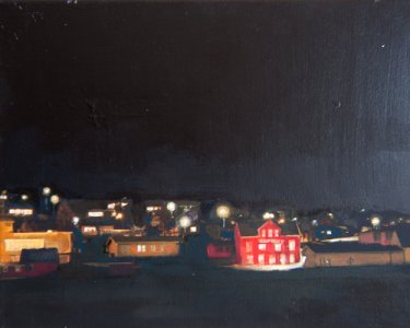 Night Lights VII, 30x40cm, Öl auf Leinwand, 2012