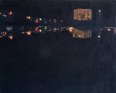 Night Lights, 30x40cm, Pigmente auf Leinwand, 2012