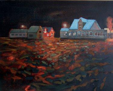 Night Lights IV, 30x40cm, Öl auf Leinwand, 2012