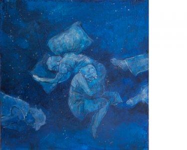 Nighties, 40x40cm, Acryl auf Leinwand, 2012
