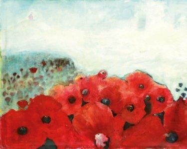 Mohnblumen, 130x180cm, Acryl auf Leinwand, 2005
