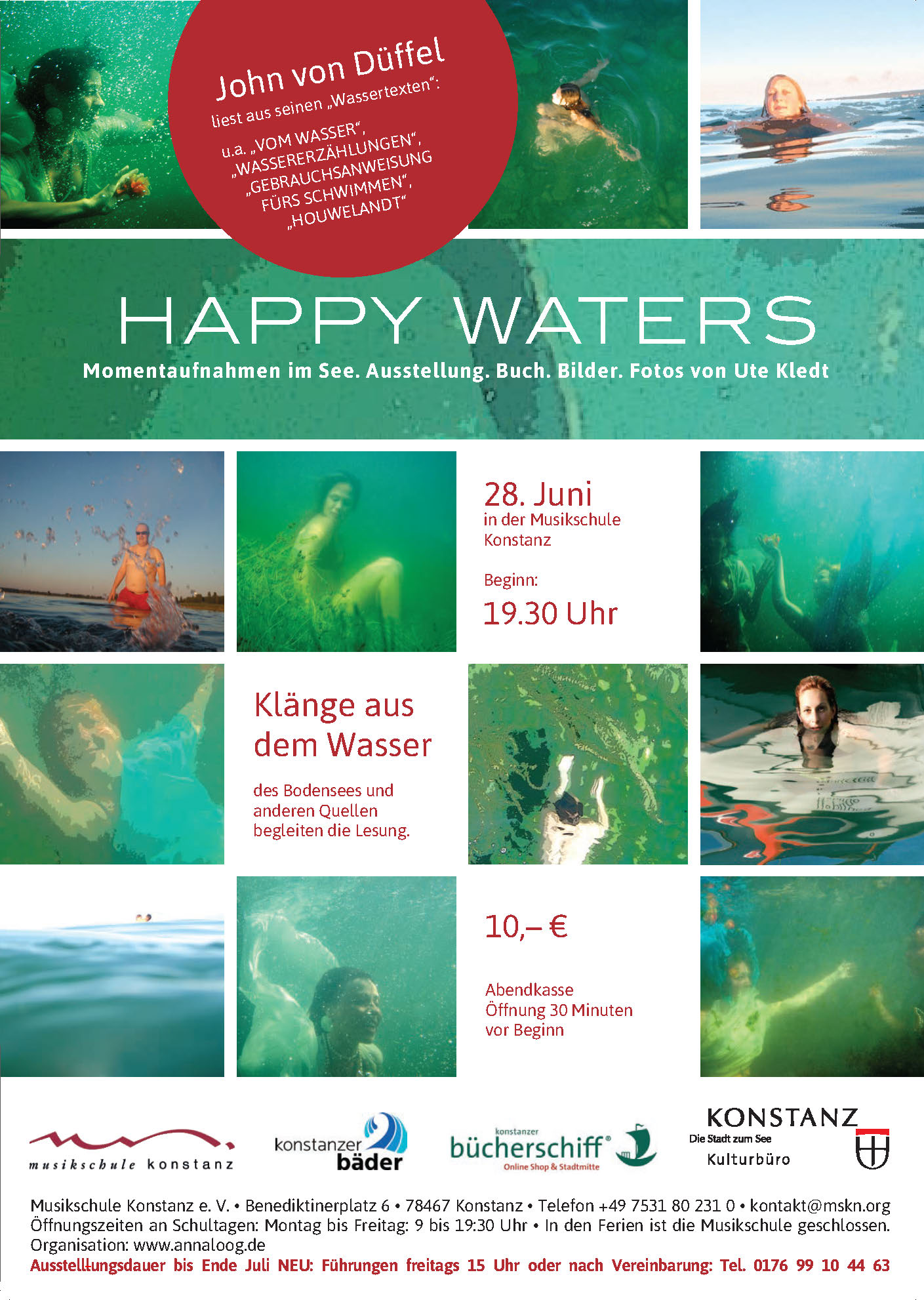 Happy waters Lesung John von Düffel